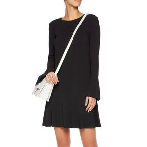 THEORY MARAH Maxyne Crepe Black Dress